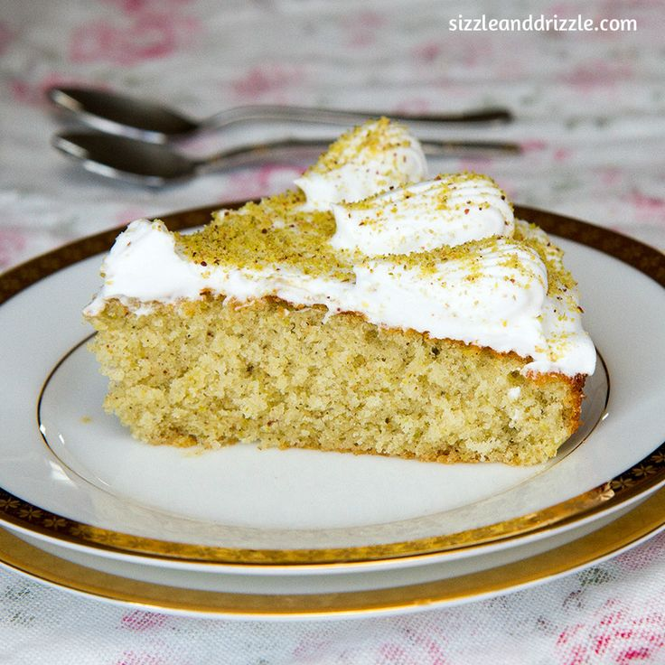 Pistachio Cake with orange zest and spices