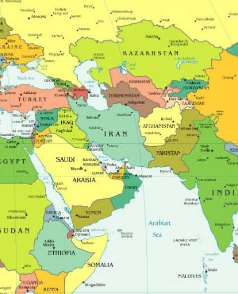Map Of S Asia.Central And East Asia Map
