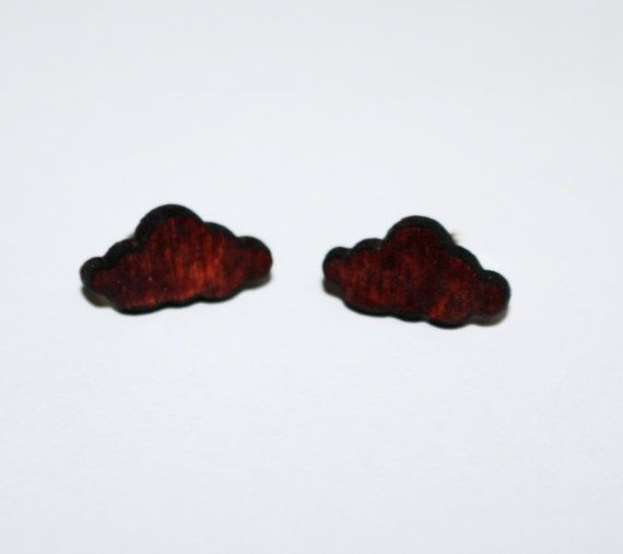 Check out this item in my Etsy shop https://www.etsy.com/listing/497625336/stud-wooden-earrings-cloud-silver-925