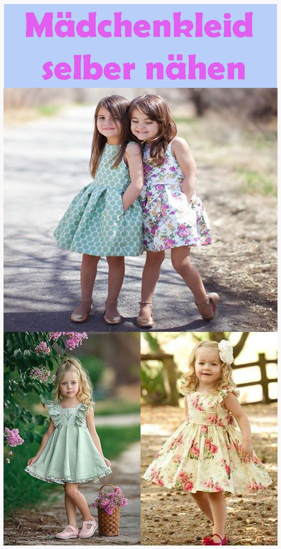 Sew girls dress by yourself – Free instructions & pattern