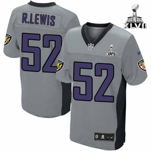nfl nike baltimore ravens http 52 ray lewis shadow grey with super