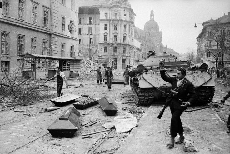 Budapest Hungarian Uprising 1956 by Micheal Rougier Freedom fighters fought against the Russians