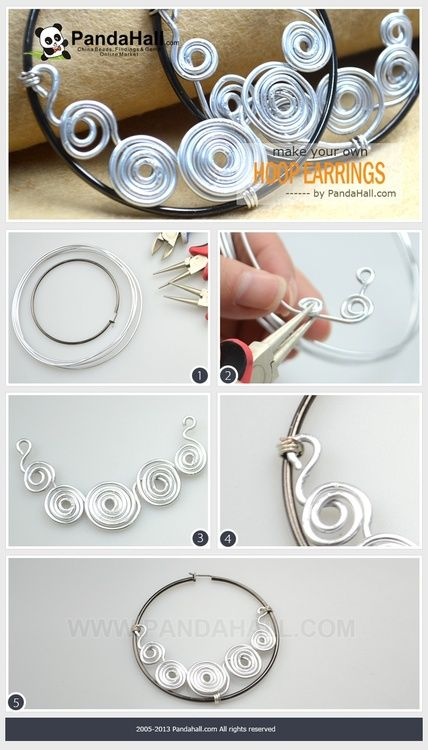 Instructions About How to Make Your Own Hoop Earrings More Prominent http://blog.pandahall.com/post/90096742990/instructions-about-how-to-make-your-own-hoop-earrings#.U9GealbKbwI