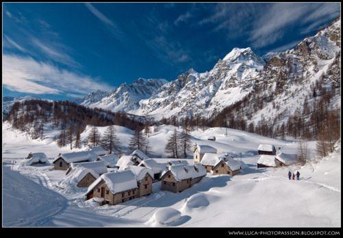 Italian Alps Village