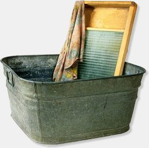 Washtub and Washboard ( I hated wash day especially if it was cold.)