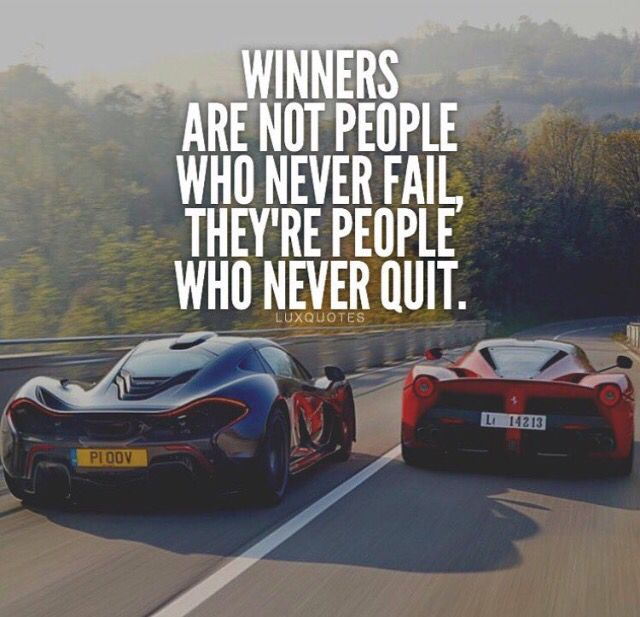 Winners Are People Who Do No Quit. #motivation #success
