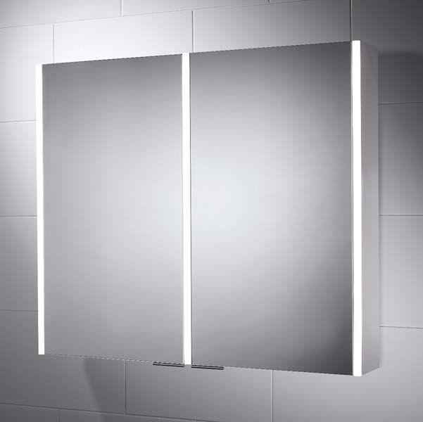 Sienna 815 X 700 Led Illuminated Bathroom Cabinet Mirror Pebble