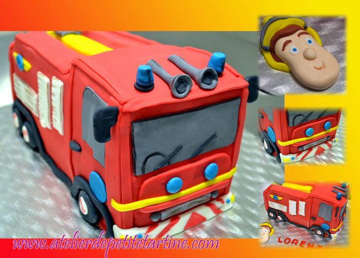 image gateau camion pompier home baking for you blog photo. Black Bedroom Furniture Sets. Home Design Ideas