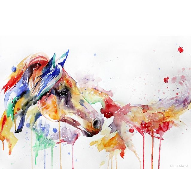 water color horse