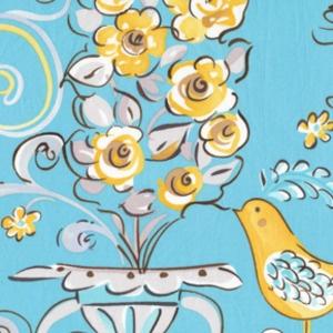 Honey Bush in Blue on Hawthorne Threads