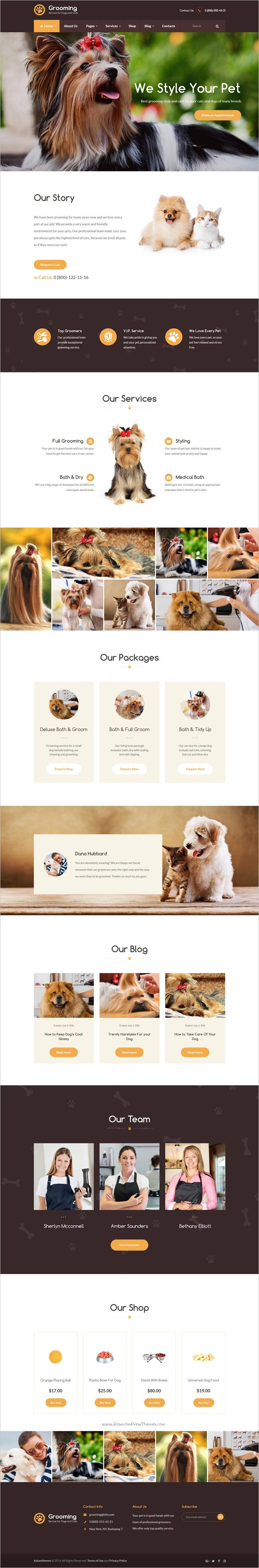 Pet grooming is modern and functional responsive #WordPress theme for #pet grooming salon, pet shop, #veterinary clinic, #animal training classes, animal shelters website download now➩ https://themeforest.net/item/pet-grooming-pet-shop-veterinary-theme/18806505?ref=Datasata