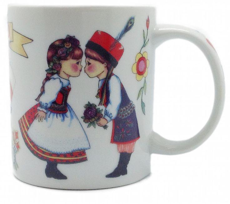 "Polish Coffee Cup Gift: ""I Love Poland"""