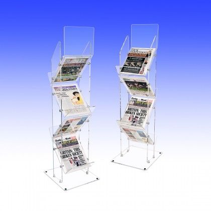 Double Sided Heavy Weight Newspaper Stand