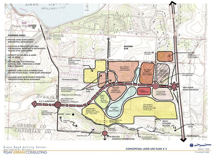 Evans Road Activity Center Conceptual Plan