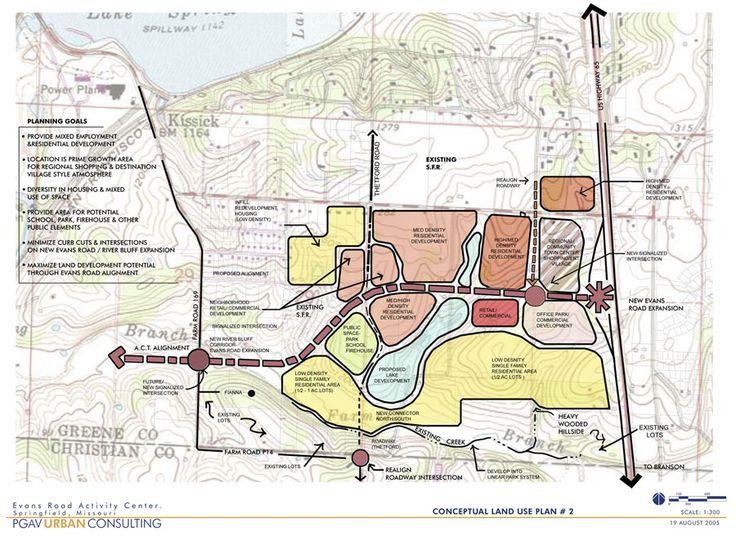 Evans Road Activity Center Conceptual Plan