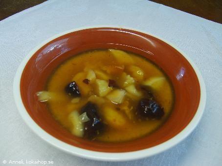 Recept - Fruktsoppa av torkad frukt