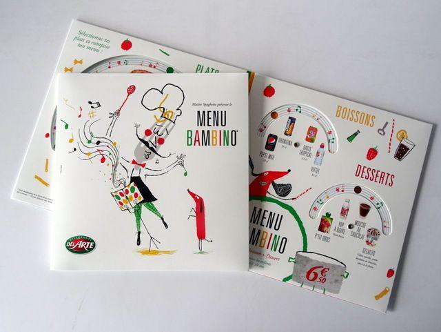 Menu Bambino -  Del Arte / Photo: Beausoleil France #carte #menu #restauration #pizza #pizzeria #MadeInFrance