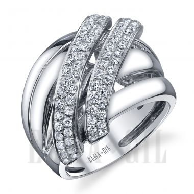 ELMA*Gil 18KWG Diamond Fashion Ring DR-412