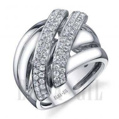 ELMA*Gil 18KWG Diamond Fashion Ring DR-412