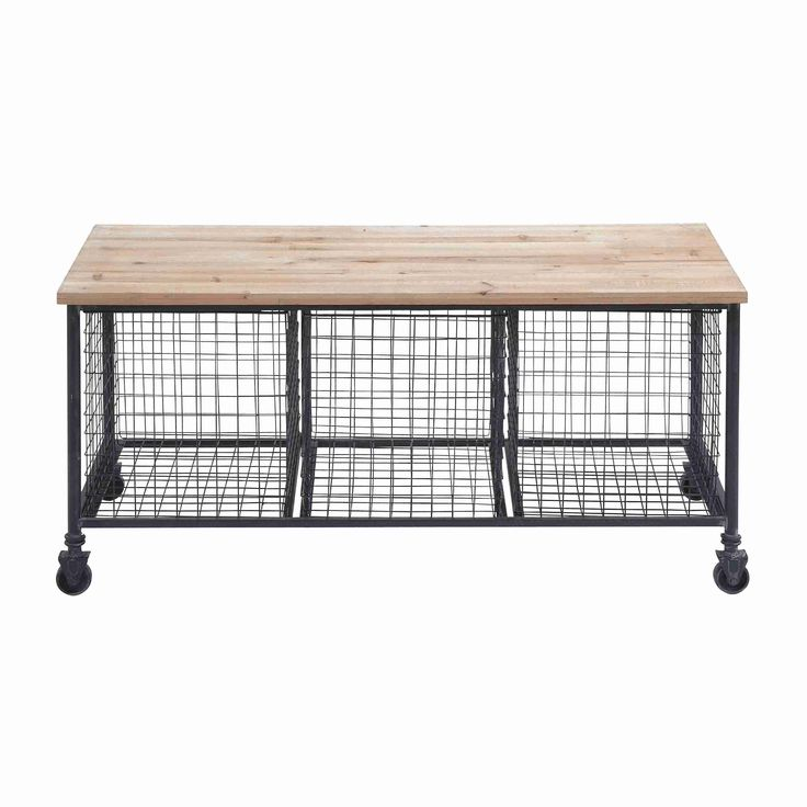 Product Storage Benchconstruction Material Wood And Metalcolor Black Naturalfeatures High Quality Castersthree Baskets Dimensions H X W D