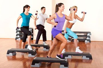 women exercising at a health club