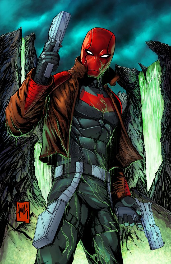 Red Hood By Javier Avila. Went to his forum at Denver Comic Con in 2015. Amazing how much work goes into one piece.