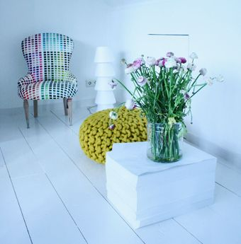 Gekleurde stoel - Hotel Droog Amsterdam