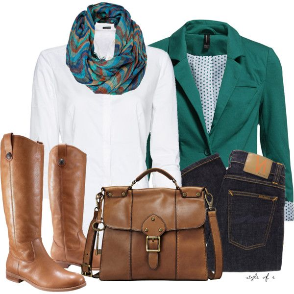 """Green Blazer"" by styleofe on Polyvore"