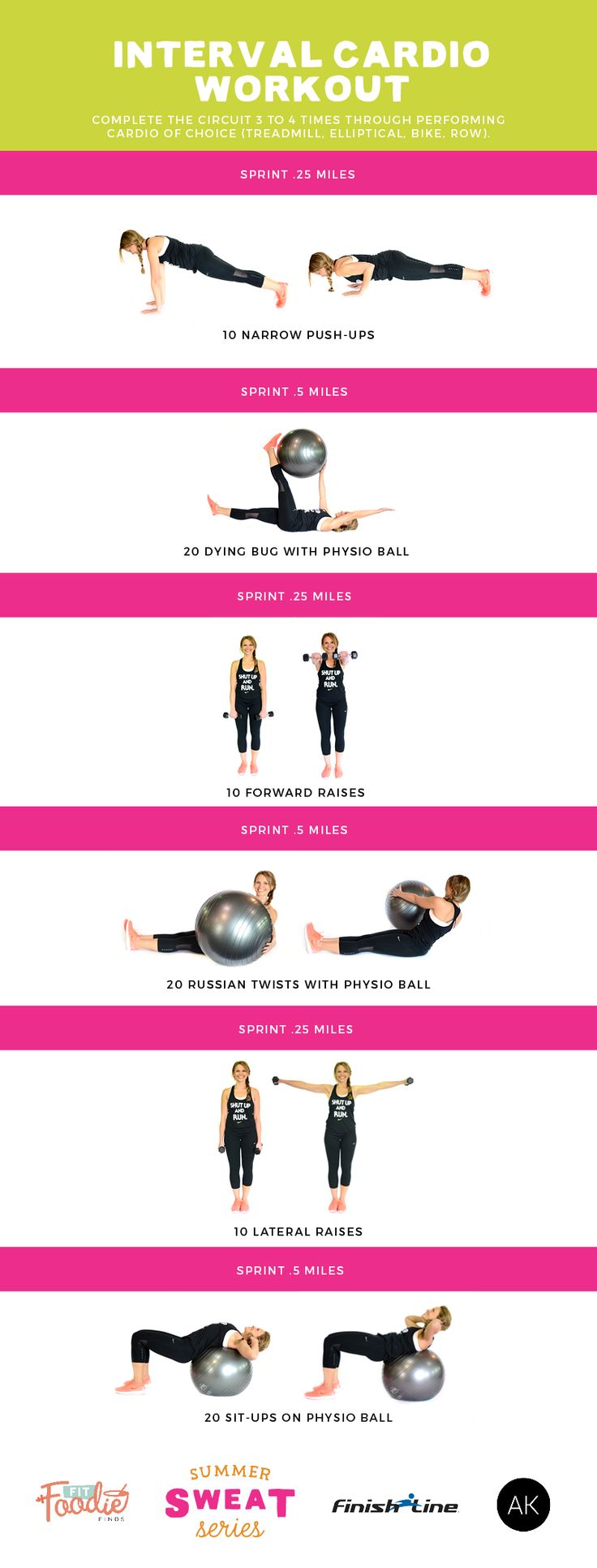 AMAZING Full body interval cardio workout! Challenging, fun and a great overall body #workout for fat burning! #SummerSWEATSeries