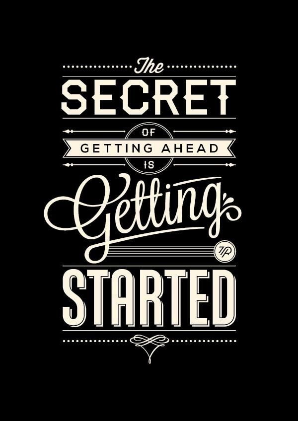 """Get started on any project, its better than leaving it sitting there until you've found the """"time"""" to do it"""