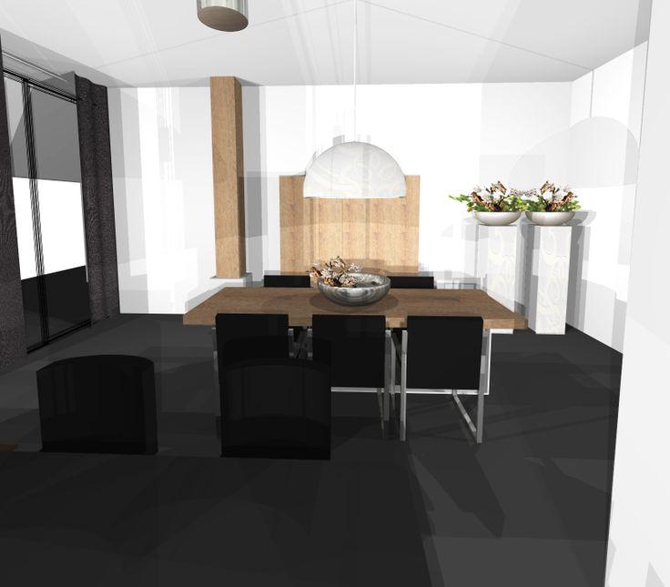 ontwerp woonboerderij met inrichting woonkeuken