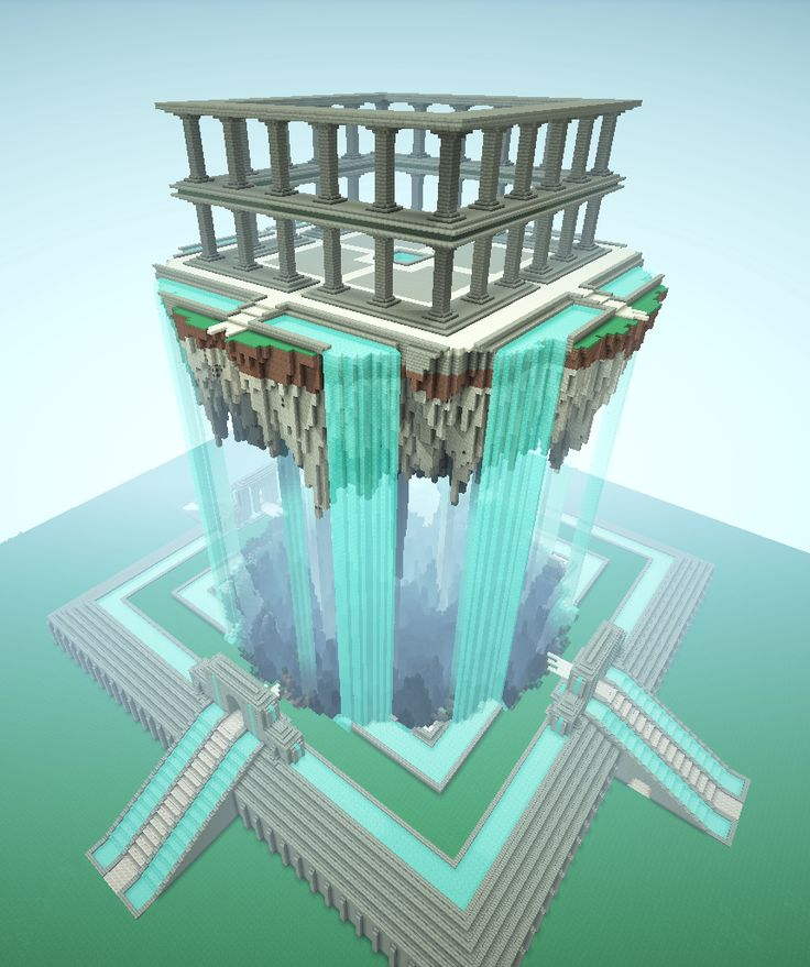 An AMAZING floating temple/island on Minecraft