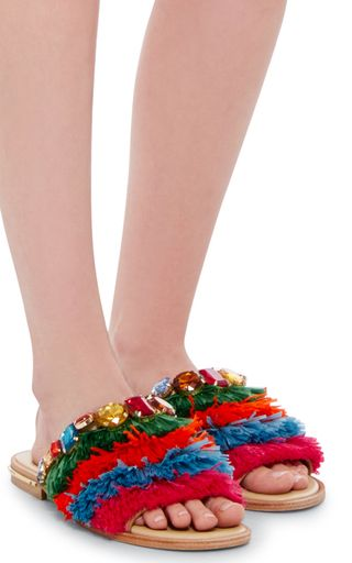 Zone Manager Slippers by STELLA JEAN Now Available on Moda Operandi