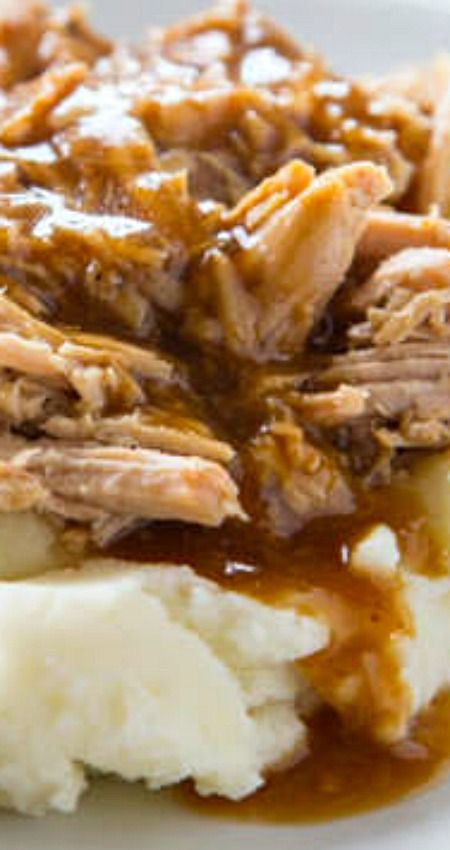 Slow Cooker Pork Roast ~ Pure comfort food... Super easy pork roast for any night of the week.