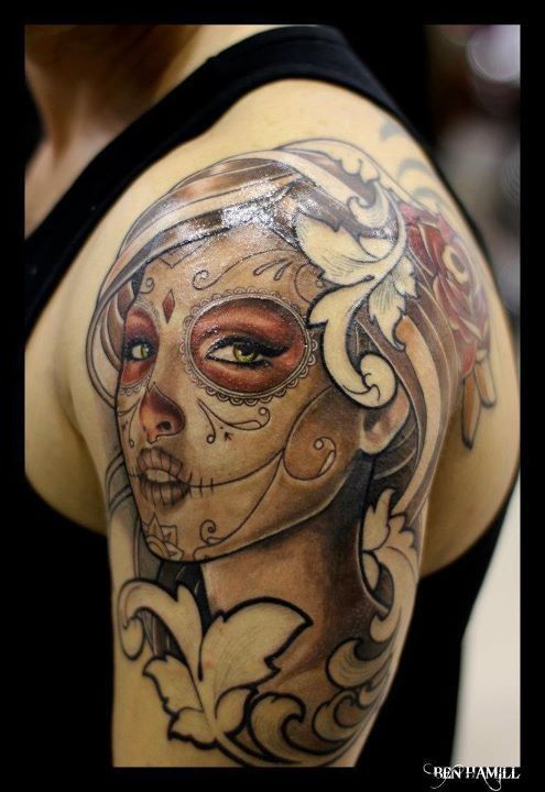 Mexican Style Tattoos | Drawings, Candy skull tattoos and ...