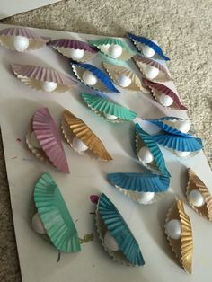 Oyster decor for our Under the Sea Book Fair :)                                                                                                                                                                                                                                                                                                                               4 saves…
