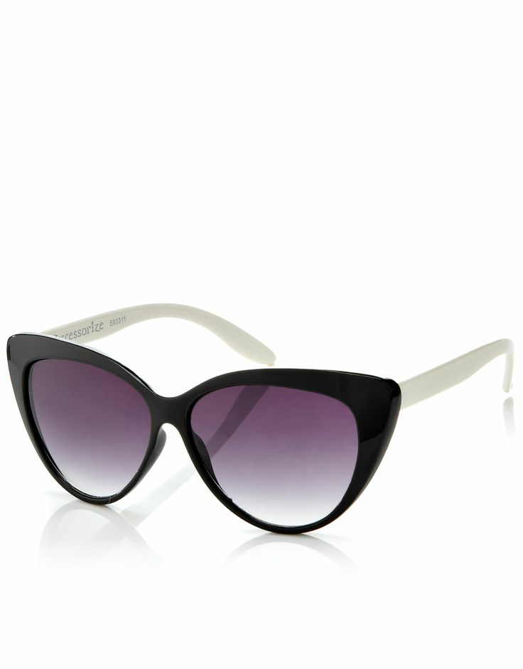 Susie Cat eye Sunglasses | Black | Accessorize