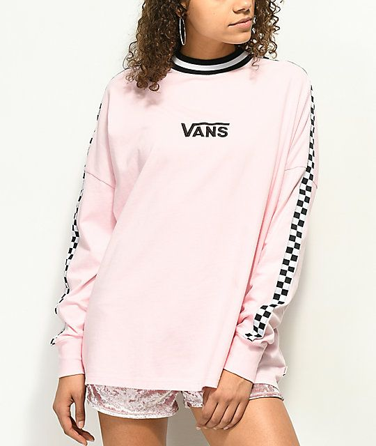 5309e63501 Vans x Lazy Oaf Pink Checkerboard Long Sleeve Shirt in 2019
