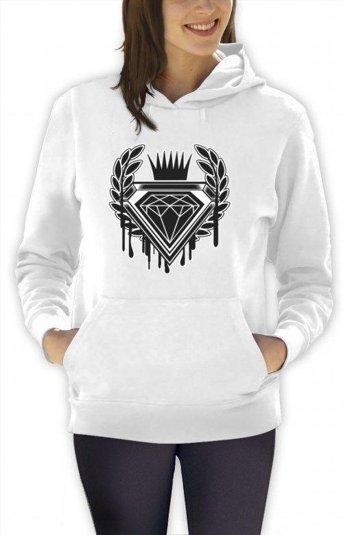 26.99$  Watch now - http://vilbt.justgood.pw/vig/item.php?t=18vjizr42179 - Dripping Diamond Cartoon LOGO Women Hoodie GRAPHIC SKATE URBAN DOPE Swag FLEECE