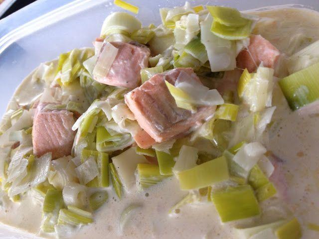 Blonde & gourmande: Blanquette de saumon aux poireaux
