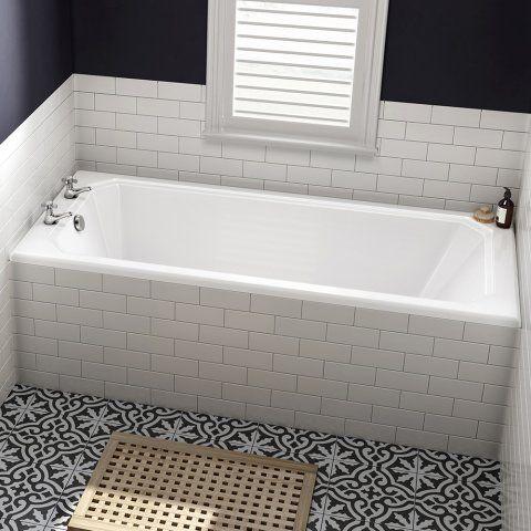 1700x695x550mm Traditional Square Single Ended Bath - Soak.com