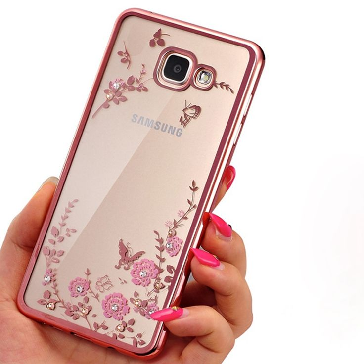 For Samsung Galaxy S7 S6 Edge S5 J1 J2 J3 J5 J7 Prime A3 A5 A7 2016 2017 Case Flora Diamond Flower Soft TPU Cover Phone Cases