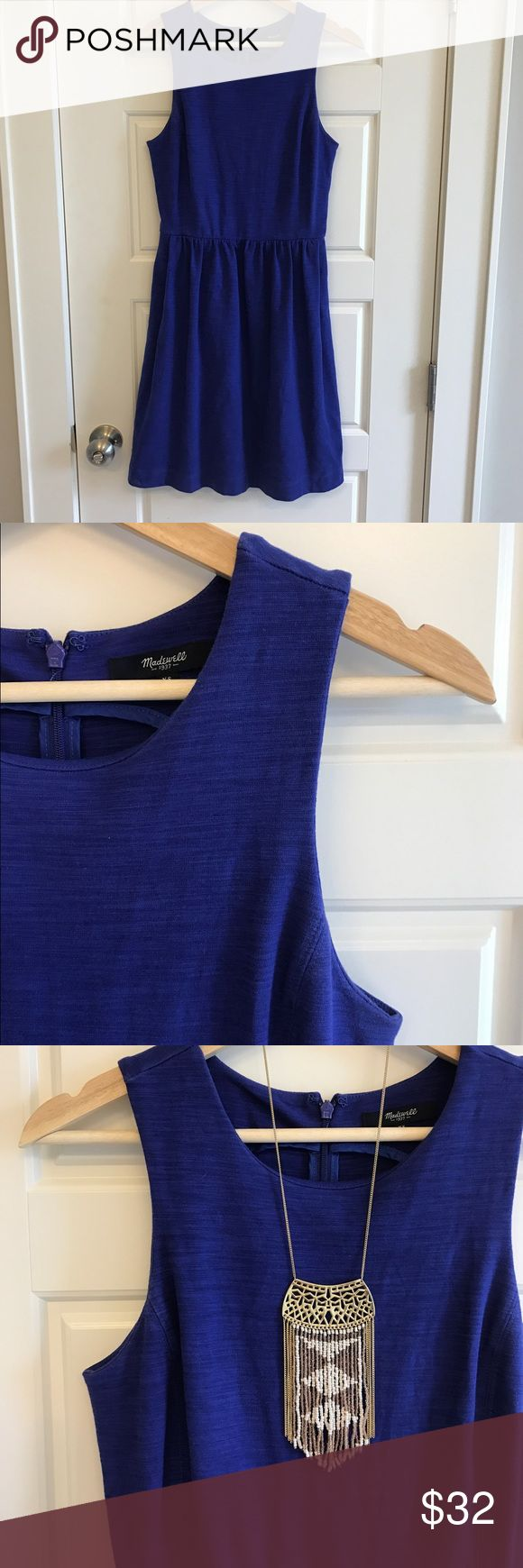 Madewell fit n flare Dress Nothing better than a one stop outfit for summer! In excellent condition with pockets. Deep purple color. Nice thick material Madewell Dresses
