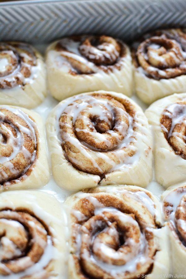 1-Hour Vegan Cinnamon Rolls  http://www.sprinkledwithjules.com/home/2015/10/17/1-hour-vegan-cinnamon-rolls
