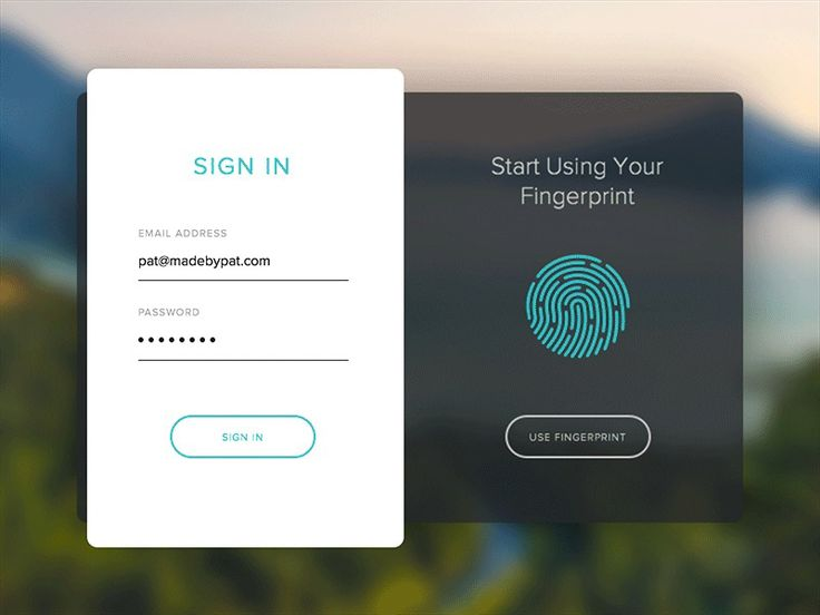 Fingerprint Sign In and Principal Animation