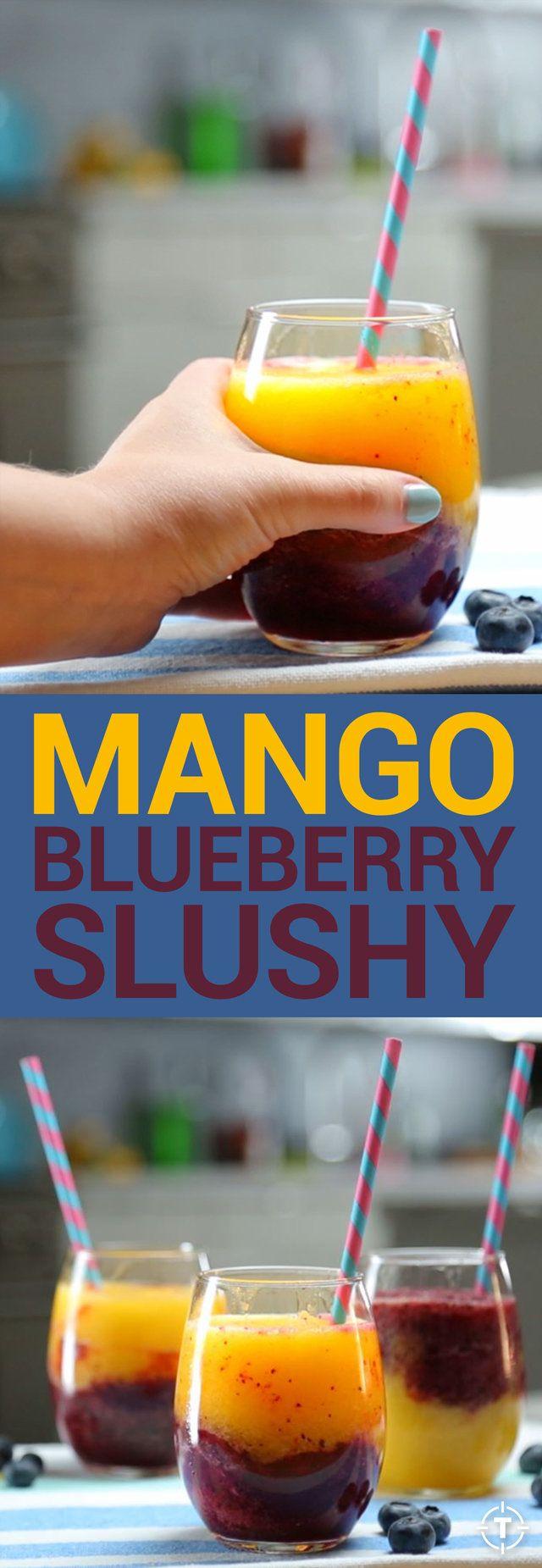 Mango and Blueberry Slushy Recipe Video