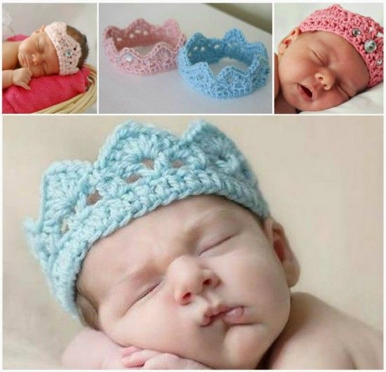 Crochet Newborn Crown Free Pattern