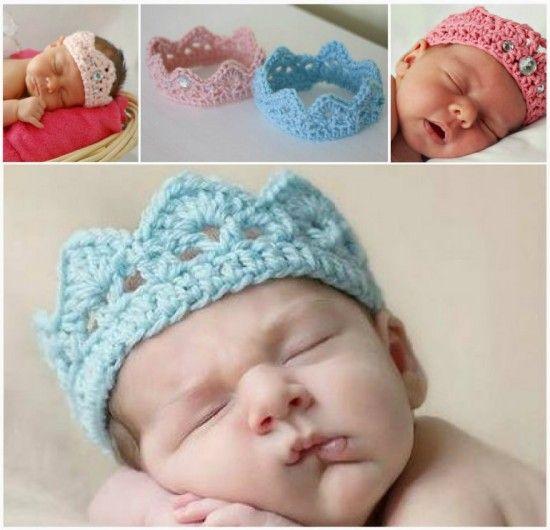 Crochet Newborn Crown Free Pattern