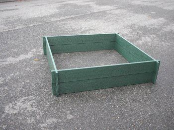 """4X8 2-Rail Hunter Green Color Raised Bed Garden Kit by OrcaboardTM. $228.00. Conveniently packaged for UPS delivery and assembles in less than 10 minutes.. The Orcaboard Lifetime Raised Bed Garden Kit is available in two standard sizes - 4x4 & 4x8.. Standard depth is 11""""; Top Rail Frame is OPTIONAL and not included.. Extend your growing season - use less space, water, fertilizer, and improve soil conditions.. The Orcaboard Lifetime Raised Bed Garden Kit is maintenance free, and n..."""