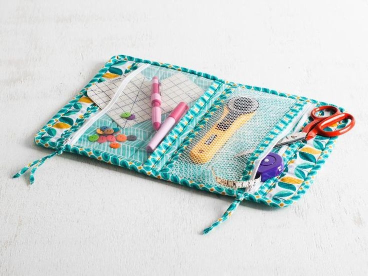 Small enough to fit in a glove box, this compact case is perfect to use as a first-aid kit, travel sewing kit and more.